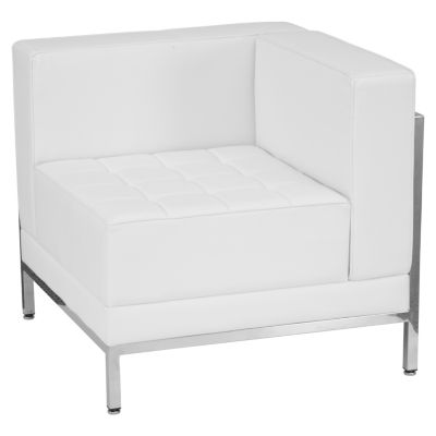 HERCULES Imagination Series Contemporary Leather Right Corner Chair with Encasing Frame