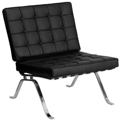 HERCULES Flash Series Leather Lounge Chair with Curved Legs