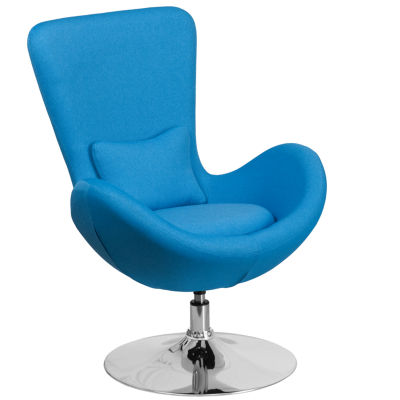 Egg Series Fabric Side Reception Chair