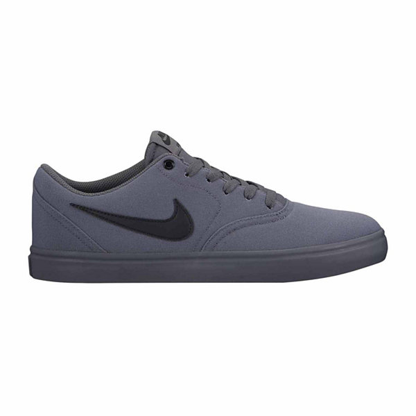 Nike Gray Solar Canvas Lace Low Top Skate Shoes Size 10