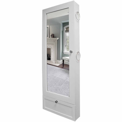New View Over-the-Door White Jewelry Cabinet