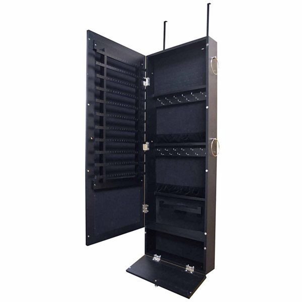 New View Over-the-Door Black Jewelry Cabinet