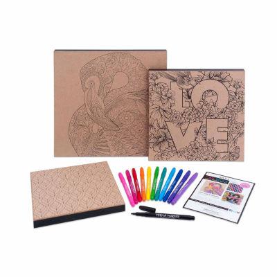 Art 101 Wood Canvas Art Set - 3 Pack