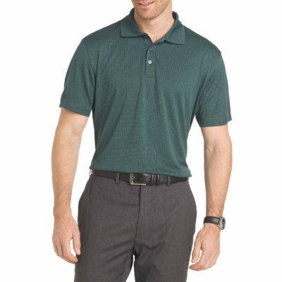 Van Heusen Ss Vh Air Grid Polo Short Sleeve Grid Jacquard Polo Shirt Big and Tall
