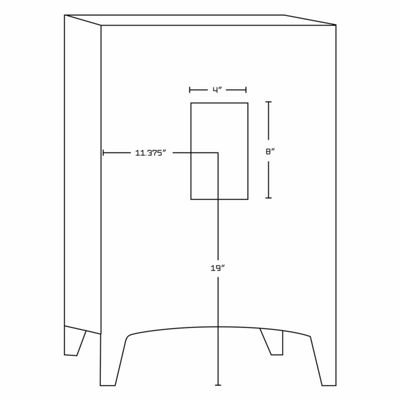 American Imaginations 23-in. W x 18-in. D Modern Wall Mount Plywood-Melamine Vanity Base Only In Dawn Grey