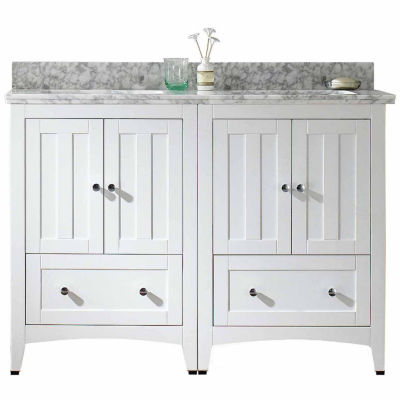 American Imaginations Shaker Rectangle Floor Mount 8-in. o.c. Center Faucet Vanity Set