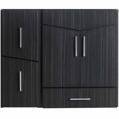 American Imaginations Zen Rectangle Modern Wall Mount Plywood-Melamine Vanity Base Set Only In Dawn Grey