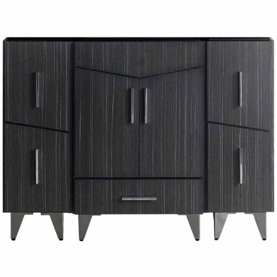 American Imaginations Zen Rectangle Modern Plywood-Melamine Vanity Base Set Only In Dawn Grey