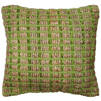 Kiana Jute/Chenille Lattice Throw Pillow