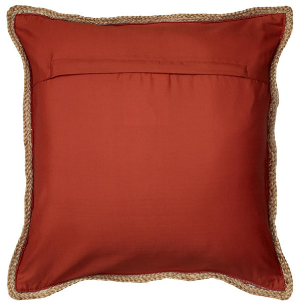 Riley Chindi/Jute Natural Throw Pillow