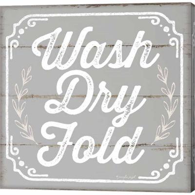 Metaverse Art Wash; Dry; Fold III Gallery WrappedCanvas Wall Art