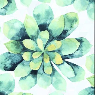 Metaverse Art Tropical Flower Gallery Wrap CanvasWall Art