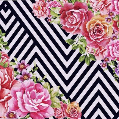 Metaverse Art Flower Geometric Gallery Wrap CanvasWall Art