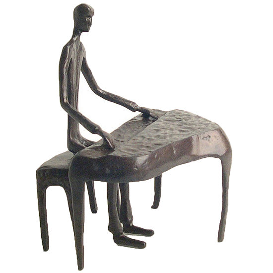 Danya B. Piano Player Bronze Sculpture