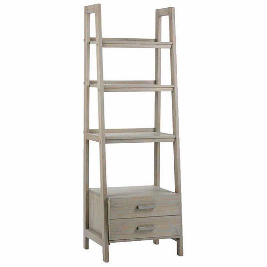 SAWHORSE LADDER SHELF WITH STORAGE