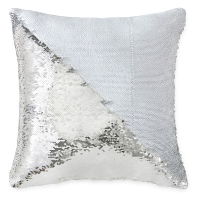 Home Expressions Sequined Mermaid Square Throw Pillow