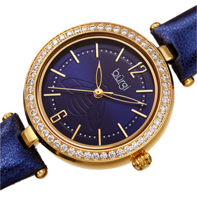 Burgi Womens Blue Strap Watch-B-235bu