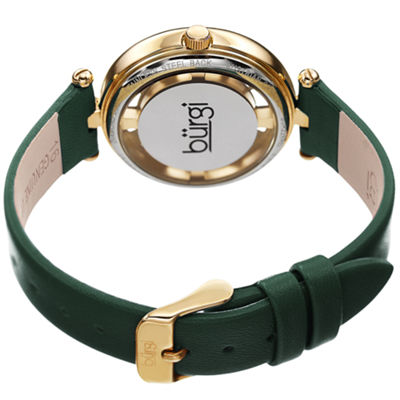 Burgi Womens Green Strap Watch-B-228gn