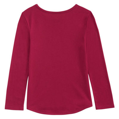 adidas Long Sleeve Round Neck T-Shirt-Preschool Girls