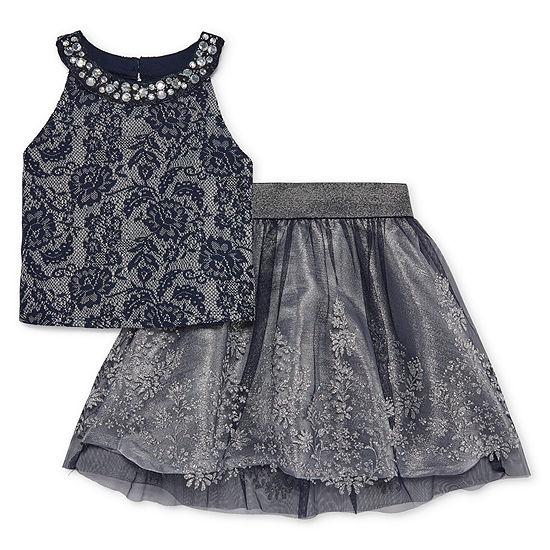 Knit Works - Big Kid Girls Sleeveless Dress Set