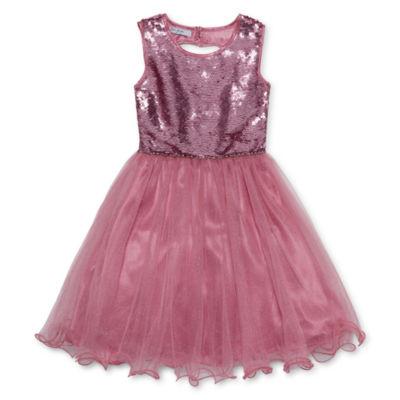 Knit Works Sleeveless Party Dress - Big Kid Girls