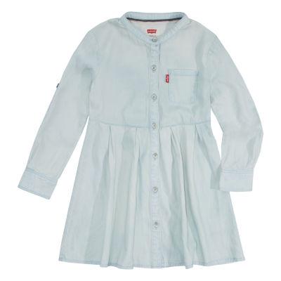 Levi's Long Sleeve Swing Dresses-Preschool Girls