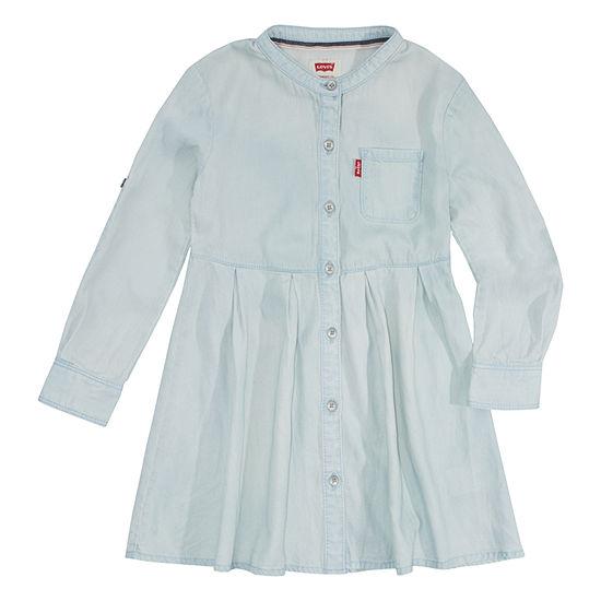 Levi's Girls Long Sleeve Swing Dresses - Preschool