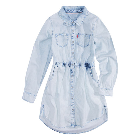 50482a2d1 Levi's Long Sleeve Fit & Flare Dress - Big Kid Girls - JCPenney