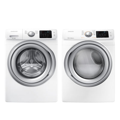 Samsung Front Load 2-pc. Electric Washer & Dryer Set- White