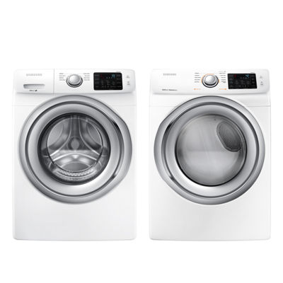 Samsung Front Load 2-pc. Gas Washer & Dryer Set- White