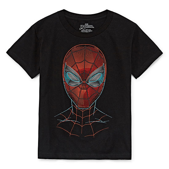 Boys Crew Neck Short Sleeve Spiderman Graphic T Shirt Preschool Big Kid