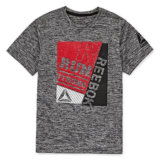 4d8798c0dedac5 Reebok Boys Crew Neck Short Sleeve Moisture Wicking T-Shirt Preschool   Big  Kid - JCPenney