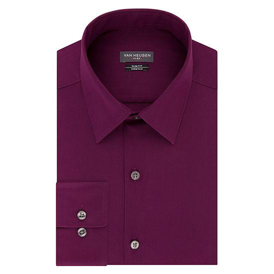 Van Heusen Flex Collar Long Sleeve  dress Shirt - Extra Slim