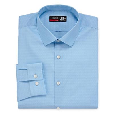JF J.Ferrar Mens Point Collar Long Sleeve Stretch Dress Shirt