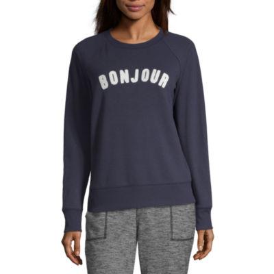 Peyton & Parker Womens Round Neck Long Sleeve Sweatshirt