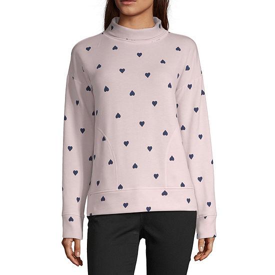 Peyton & Parker Womens High Neck Long Sleeve Sweatshirt