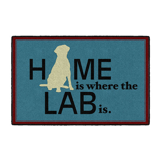Brumlow Home Is Where Your Lab Is Printed Rectangular Indoor Rugs