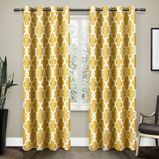 Ironwork Energy Saving Blackout Grommet-Top Curtain Panel