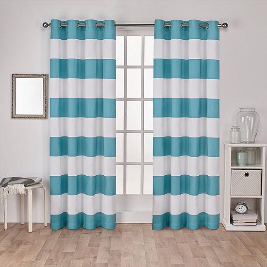 Surfside 2-Pack Room Darkening Grommet-Top Curtain Panel