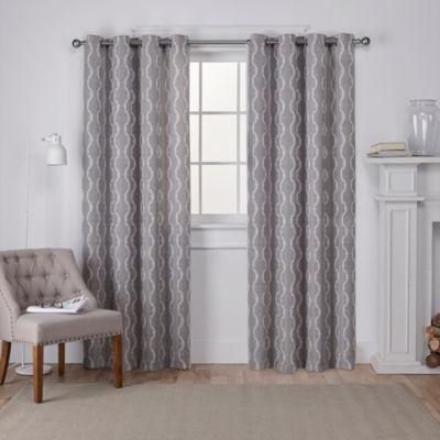 Baroque Room Darkening Grommet-Top Curtain Panel