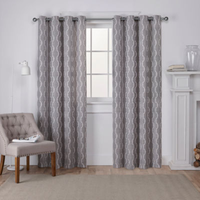 Baroque 2-Pack Room Darkening Grommet-Top Curtain Panel