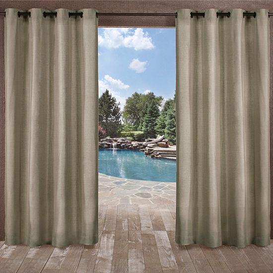 Biscayne Room Darkening Grommet-Top Curtain Panel