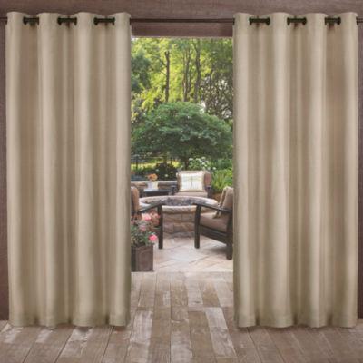 Biscayne 2-Pack Room Darkening Grommet-Top Curtain Panel