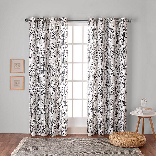 Branches Room Darkening Grommet-Top Curtain Panel