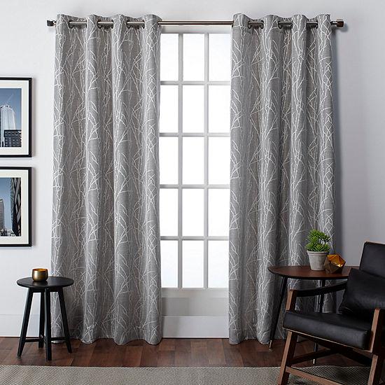 Finesse Room Darkening Grommet-Top Curtain Panel