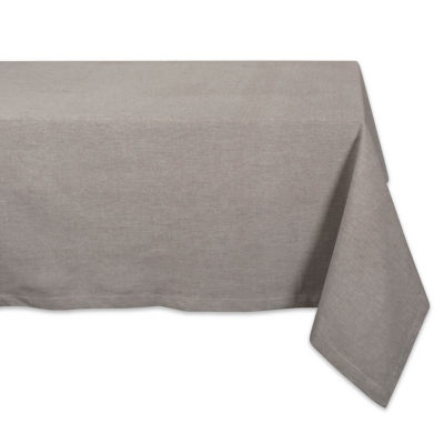 Design Imports Solid Chambray Tablecloth
