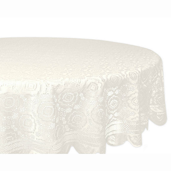 Design Imports Vintage Polyester Lace Tablecloth