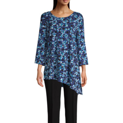 east 5th Womens Round Neck 3/4 Sleeve Tunic Top