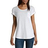 32548f42d73 a.n.a-Womens Round Neck Short Sleeve T-Shirt