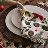 Design Imports Woodland Christmas Tablecloth